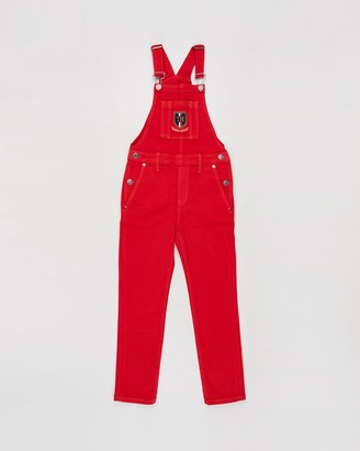 Tommy Hilfiger Monogram Shield Dungarees - Teens