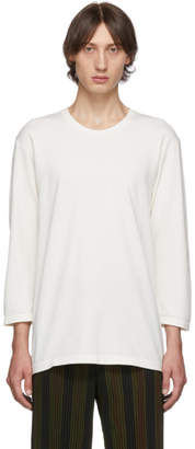 Issey Miyake Homme Plisse White Washi Three-Quarter Sleeve T-Shirt