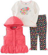 Kids Headquarters 3-Pc. Puffer Vest, T-Shirt & Leggings Set, Toddler Girls & Little Girls (2T-6X)