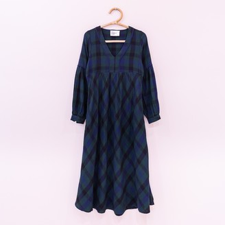Leon & Harper - Maxi Dress and Maxi Plaid - XS | cotton | green | Scottish plaid - Green/Green