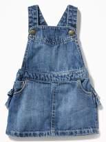 Old Navy Denim Ruffled-Back Skirtall for Baby