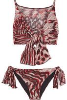 Missoni Mare Reversible Knotted Crochet-Knit Bikini