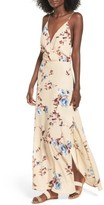 Lush Women's Surplice Maxi Dress