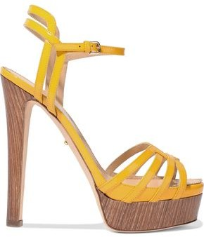 Sergio Rossi Paloma Cutout Patent-leather Platform Sandals