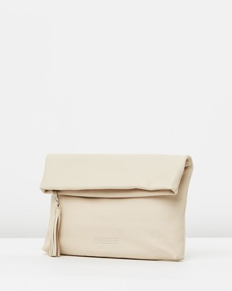 Stitch & Hide - Women's White Leather bags - Lily Fold Clutch - Size One Size at The Iconic