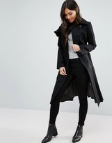 Cooper & Stollbrand Ruffle Front Trench Coat