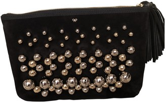Anya Hindmarch Black Suede Clutch bags