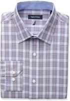 Nautica Men's Regular Fit Plaid Dress Shirt, Multi
