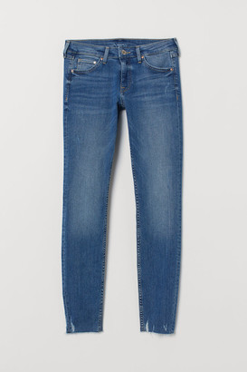 H&M Super Skinny Low Ankle Jeans - Blue