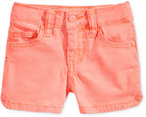 Celebrity Pink Super Soft Colored Denim Shorts, Little Girls (4-6X)