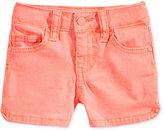 Celebrity Pink Super Soft Colored Denim Shorts, Toddler and Little Girls (2T-6X)