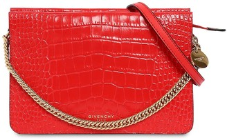 Givenchy Cross3 Croc Embossed Leather Bag