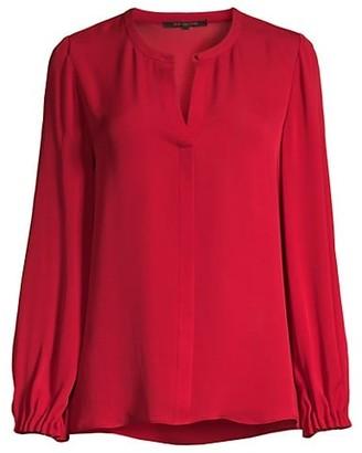 Kobi Halperin Lola Silk Long-Sleeve Blouse