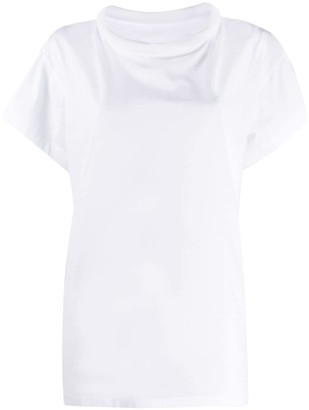 Maison Margiela raised ribbed collar T-shirt