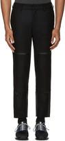 Y-3 Black Wool Track Trousers