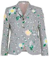 Thom Browne Embroidered Striped Mohair And Wool-Blend Blazer