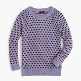 J.Crew Tippi sweater in jacquard dot