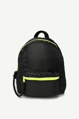 Ardene Nylon Neon Zip Backpack