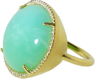 Irene Neuwirth Jewelry Cabochon Mint Chrysoprase Ring