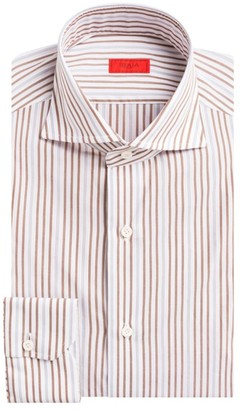 Isaia Contemporary-Fit Striped Dress Shirt