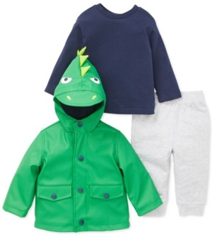 Little Me Baby Boys 3-Pc. Dinosaur Jacket, T-Shirt & Pants Set
