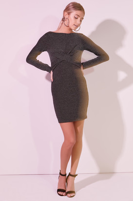 Ardene Twisted Glitter Dress with Cutout Back - Clothing |