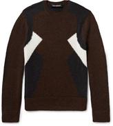 Neil Barrett - Panelled Wool And Alpaca-blend Sweater