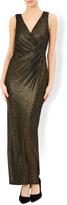 Naomi Gold Maxi Sleevless Dress