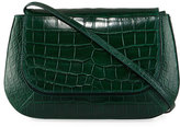 The Row Fan Bag 10 Alligator Shoulder Bag, Green