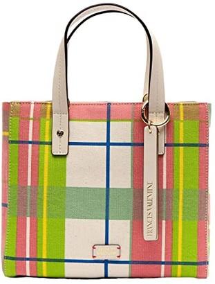 Frances Valentine Small Chloe Bermuda Plaid Tote w/ Crossbody Strap (Plaid) Tote Handbags