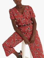 Thumbnail for your product : Fat Face FatFace Rachel Floral Print Jumpsuit, Brick Red