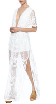 Honey Punch Embroidered Maxi Romper