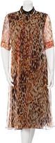 Bouchra Jarrar Silk Animal Print Dress