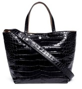 Elizabeth and James 'Eloise' croc embossed leather tote