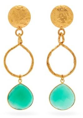 Sylvia Toledano - Eclipse Green Onyx Drop Earrings - Womens - Green