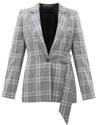 Roland Mouret Belair Checked Wool Blazer - Blue Multi