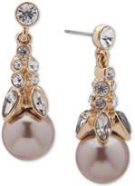 Givenchy Imitation Pearl & Crystal Drop Earrings