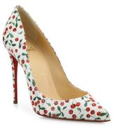 Christian Louboutin Pigalle Follies Cherry-Print Leather Pumps