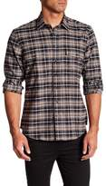 Toscano Long Sleeve Regular Fit Button Up Plaid Shirt