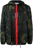Givenchy dollar print hooded jacket - men - Cotton/Polyamide/Viscose - 50
