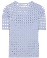 Alexander Wang Perforated jersey top