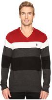 U.S. Polo Assn. Stripe Vee Acrylic