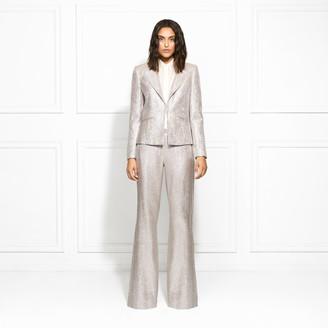 Rachel Zoe Eden Metallic Suiting Wide-Leg Pants