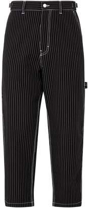 Ami Paris Pinstriped Canvas Trousers