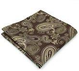 Shlax & Wing Shlax&Wing Gold Paisley Mens Pocket Square Hanky Silk Handmade