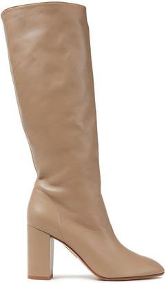 Aquazzura Boogie Leather Knee Boots