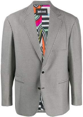 Just Cavalli houndstooth pattern blazer jacket