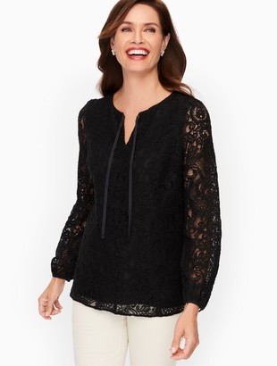 Talbots Paisley Lace Top