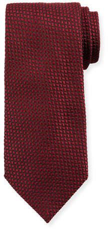 Giorgio Armani Square Silk Tie, Burgundy