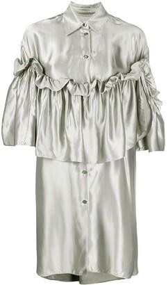 MM6 MAISON MARGIELA Ruffle Layered Shirt Dress